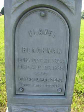 BLACKMAN, FLAVEL (CLOSEUP) - Davison County, South Dakota | FLAVEL (CLOSEUP) BLACKMAN - South Dakota Gravestone Photos