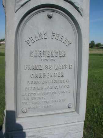 CARPENTER, FRANZ (CLOSEUP) - Davison County, South Dakota | FRANZ (CLOSEUP) CARPENTER - South Dakota Gravestone Photos