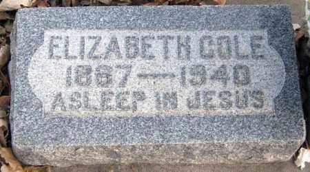 BELL COLE, ELIZABETH - Davison County, South Dakota | ELIZABETH BELL COLE - South Dakota Gravestone Photos