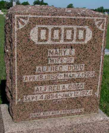 DODD, MARY E. - Davison County, South Dakota | MARY E. DODD - South Dakota Gravestone Photos