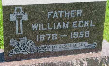 ECKL, WILLIAM - Davison County, South Dakota | WILLIAM ECKL - South Dakota Gravestone Photos