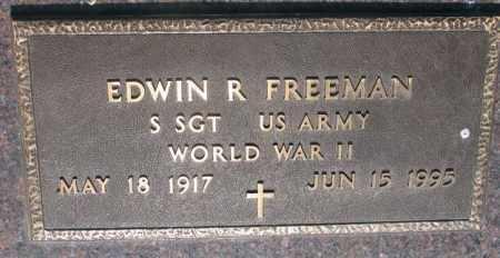 FREEMAN, EDWIN R. (WW II) - Davison County, South Dakota | EDWIN R. (WW II) FREEMAN - South Dakota Gravestone Photos