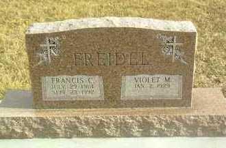 FREIDEL, FRANCIS - Davison County, South Dakota | FRANCIS FREIDEL - South Dakota Gravestone Photos