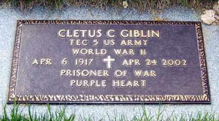 GIBLIN, CLETUS - Davison County, South Dakota | CLETUS GIBLIN - South Dakota Gravestone Photos