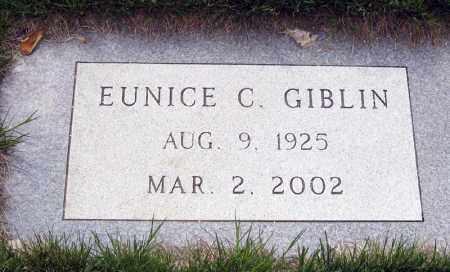 GIBLIN, EUNICE - Davison County, South Dakota | EUNICE GIBLIN - South Dakota Gravestone Photos