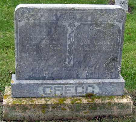 GREGG, JULIA - Davison County, South Dakota   JULIA GREGG - South Dakota Gravestone Photos