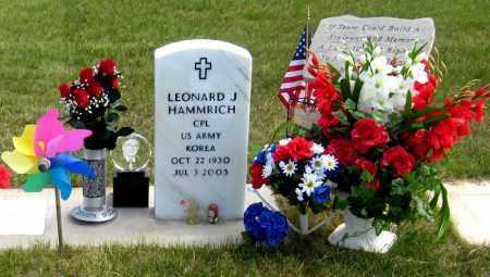 HAMMRICH, LEONARD - Davison County, South Dakota   LEONARD HAMMRICH - South Dakota Gravestone Photos