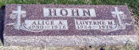 HOHN, ALICE - Davison County, South Dakota | ALICE HOHN - South Dakota Gravestone Photos