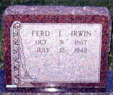 IRWIN, FERDINAND - Davison County, South Dakota   FERDINAND IRWIN - South Dakota Gravestone Photos
