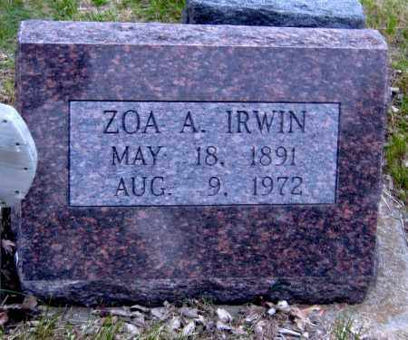 IRWIN, ZOA - Davison County, South Dakota | ZOA IRWIN - South Dakota Gravestone Photos