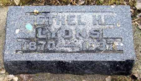 LYONS, ETHEL - Davison County, South Dakota   ETHEL LYONS - South Dakota Gravestone Photos