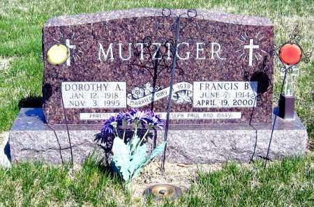MUTZIGER, FRANCIS - Davison County, South Dakota | FRANCIS MUTZIGER - South Dakota Gravestone Photos