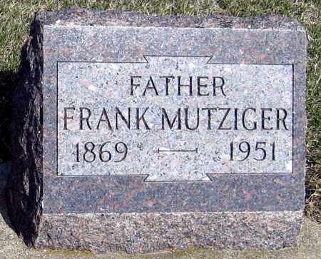 MUTZIGER, FRANK - Davison County, South Dakota | FRANK MUTZIGER - South Dakota Gravestone Photos