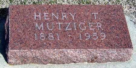 MUTZIGER, HENRY - Davison County, South Dakota | HENRY MUTZIGER - South Dakota Gravestone Photos