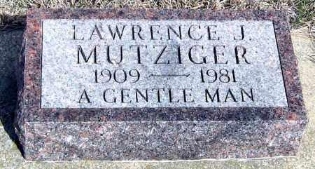 MUTZIGER, LAWRENCE - Davison County, South Dakota | LAWRENCE MUTZIGER - South Dakota Gravestone Photos