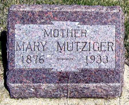 MUTZIGER, MARY - Davison County, South Dakota   MARY MUTZIGER - South Dakota Gravestone Photos