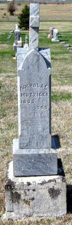 MUTZIGER, NICHOLAS - Davison County, South Dakota | NICHOLAS MUTZIGER - South Dakota Gravestone Photos
