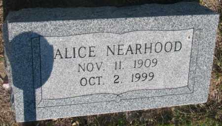 NEARHOOD, ALICE - Davison County, South Dakota   ALICE NEARHOOD - South Dakota Gravestone Photos