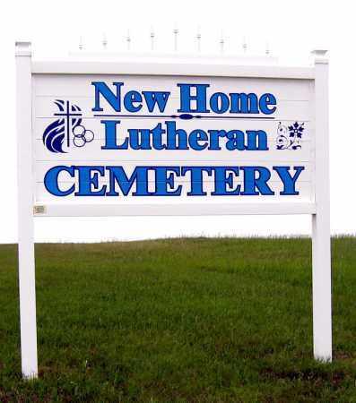 **NEW HOME LUTHERAN, SIGN - Davison County, South Dakota | SIGN **NEW HOME LUTHERAN - South Dakota Gravestone Photos