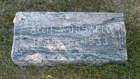 KELSO ORSWELL, ALLIE V. - Davison County, South Dakota | ALLIE V. KELSO ORSWELL - South Dakota Gravestone Photos