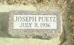 PUETZ, JOSEPH - Davison County, South Dakota | JOSEPH PUETZ - South Dakota Gravestone Photos