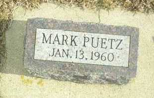 PUETZ, MARK - Davison County, South Dakota   MARK PUETZ - South Dakota Gravestone Photos