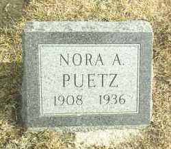 PUETZ, NORA - Davison County, South Dakota | NORA PUETZ - South Dakota Gravestone Photos
