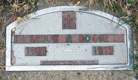 ROGGE, LEROY - Davison County, South Dakota | LEROY ROGGE - South Dakota Gravestone Photos