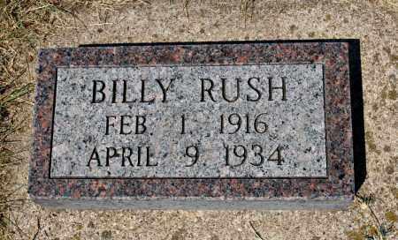 RUSH, BILLY - Davison County, South Dakota   BILLY RUSH - South Dakota Gravestone Photos