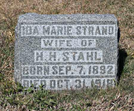 STRAND STAHL, IDA - Davison County, South Dakota   IDA STRAND STAHL - South Dakota Gravestone Photos