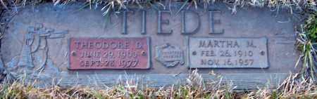TIEDE, THEODORE - Davison County, South Dakota | THEODORE TIEDE - South Dakota Gravestone Photos