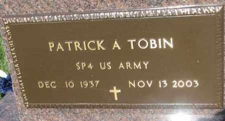 TOBIN, PATRICK A. (MILITARY) - Davison County, South Dakota | PATRICK A. (MILITARY) TOBIN - South Dakota Gravestone Photos