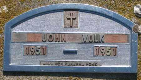 VOLK, JOHN - Davison County, South Dakota   JOHN VOLK - South Dakota Gravestone Photos
