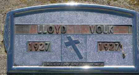 VOLK, LLOYD - Davison County, South Dakota   LLOYD VOLK - South Dakota Gravestone Photos