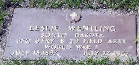 WENTLING, LESLIE - Davison County, South Dakota | LESLIE WENTLING - South Dakota Gravestone Photos