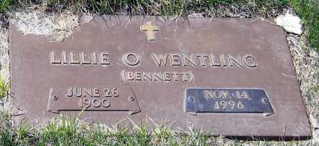BENNETT WENTLING, LILLIE O. - Davison County, South Dakota | LILLIE O. BENNETT WENTLING - South Dakota Gravestone Photos