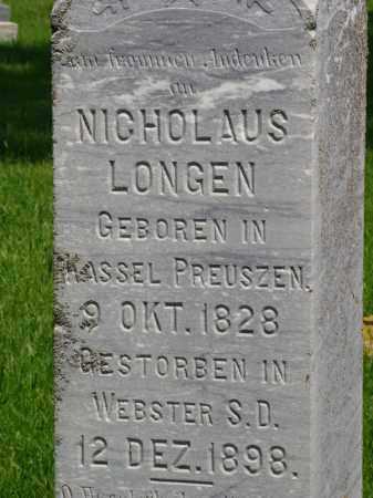 LONGEN, NICHOLAUS - Day County, South Dakota | NICHOLAUS LONGEN - South Dakota Gravestone Photos