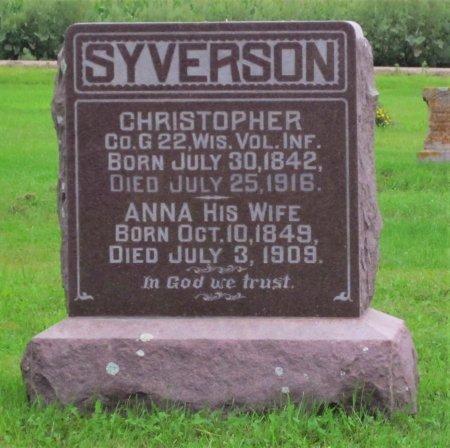 SYVERSON, CHRISTOPHER - Day County, South Dakota | CHRISTOPHER SYVERSON - South Dakota Gravestone Photos