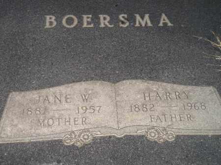 BOERSMA, JANE W. - Deuel County, South Dakota | JANE W. BOERSMA - South Dakota Gravestone Photos