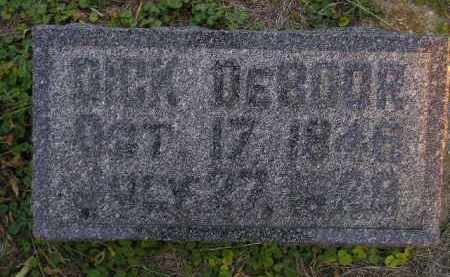 DEBOOR, DICK - Deuel County, South Dakota | DICK DEBOOR - South Dakota Gravestone Photos
