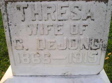 DEJONG, THRESA - Deuel County, South Dakota | THRESA DEJONG - South Dakota Gravestone Photos