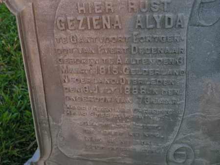 GANTVOORT, GEZINA ALYDA - Deuel County, South Dakota | GEZINA ALYDA GANTVOORT - South Dakota Gravestone Photos