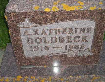 GOLDBECK, A. KATHERINE - Deuel County, South Dakota | A. KATHERINE GOLDBECK - South Dakota Gravestone Photos