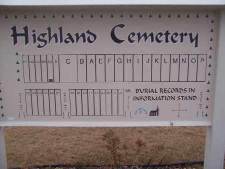 *HIGHLAND LUTHERAN SIGN, . - Deuel County, South Dakota | . *HIGHLAND LUTHERAN SIGN - South Dakota Gravestone Photos