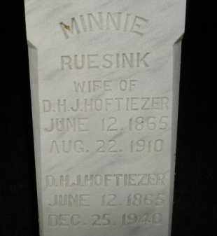 RUESINK HOFTIEZER, MINNIE - Deuel County, South Dakota | MINNIE RUESINK HOFTIEZER - South Dakota Gravestone Photos