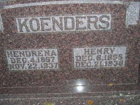 KOENDERS, HENDRENA - Deuel County, South Dakota   HENDRENA KOENDERS - South Dakota Gravestone Photos