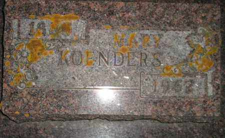 KOENDERS, MARY - Deuel County, South Dakota   MARY KOENDERS - South Dakota Gravestone Photos