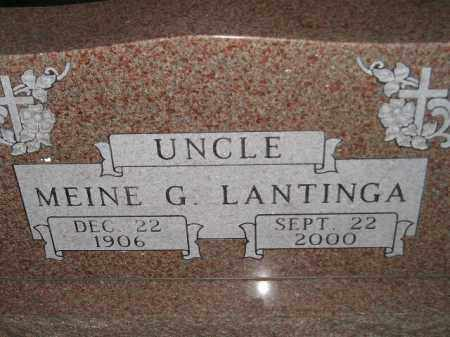 LANTINGA, MEINE G. - Deuel County, South Dakota | MEINE G. LANTINGA - South Dakota Gravestone Photos