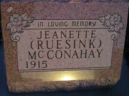RUESINK MCCONAHAY, JEANETTE - Deuel County, South Dakota   JEANETTE RUESINK MCCONAHAY - South Dakota Gravestone Photos