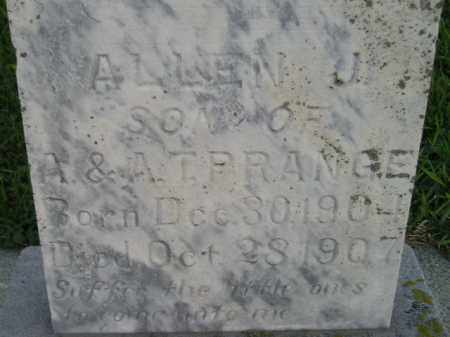 PRANGE, ALLEN J. - Deuel County, South Dakota   ALLEN J. PRANGE - South Dakota Gravestone Photos